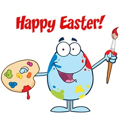 Happy easter activity cartoon egg vector