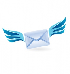 flying letter icon vector image