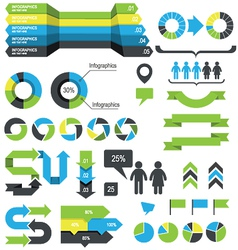 Infographics design elements and icons vector