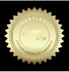 Gold star label Maryland vector image