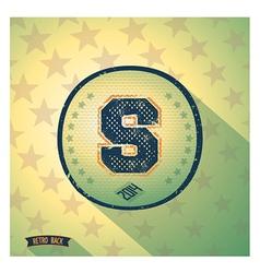 Sporty retro shabby letter s vector