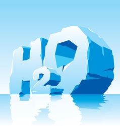 Ice water symbol h2o vector