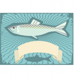 Herring poster vector