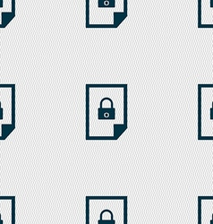 File locked icon sign seamless abstract background vector