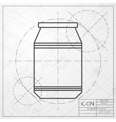 Kitchen bottle template vector