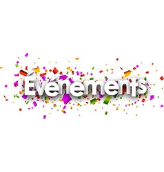 Events paper banner vector