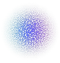 Abstract colorful halftone dots triangle vector