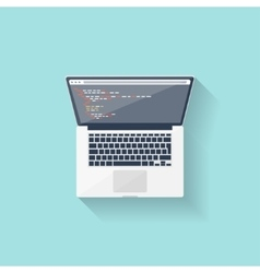 Programming and coding online Flat style Web vector image