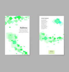 abstract composition business card set box block vector image vector image
