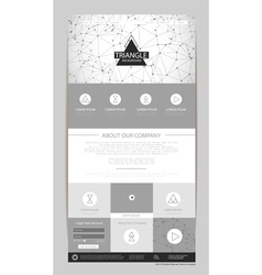 Abstract geometric triangle concept web design vector