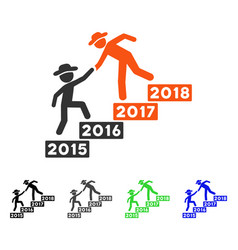 Annual gentlemen stairs help flat icon vector