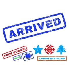 Arrived Rubber Stamp vector image vector image