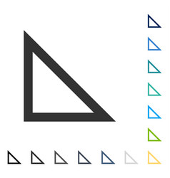 Arrowhead left down icon vector