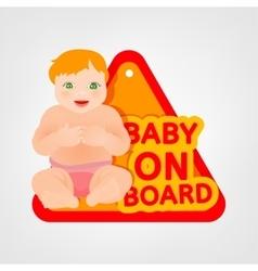 Baby on board vector
