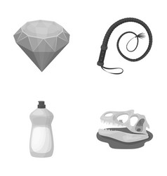 Cleaning animal and other monochrome icon in vector