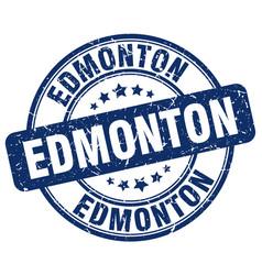 Edmonton blue grunge round vintage rubber stamp vector