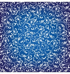 Floral ornament on blue background vector image