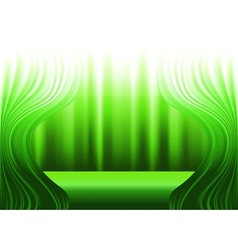 Green curtains and stage vector