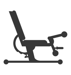 Gym bench icon vector
