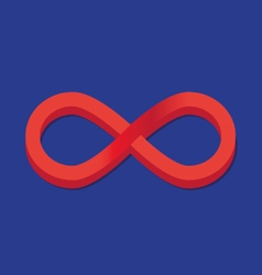 infinity sign icon vector image vector image