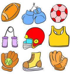 Object sport equipment doodle art vector