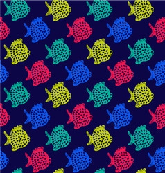 pattern of fish Decorative Colorful Cute vector image vector image