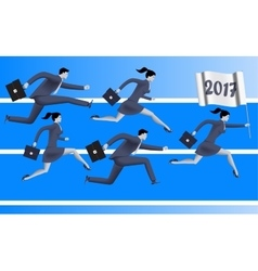 Running to year 2017 business concept vector image vector image