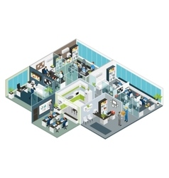 Set room office isometric vector