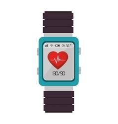 smart watch cardio fitness vector image