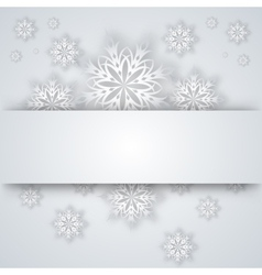 snowflakes and tree on a paper background vector image vector image