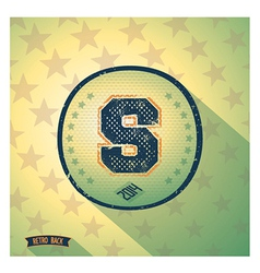 Sporty retro shabby letter s vector