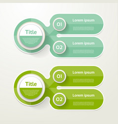 Two elements banner 2 steps design chart vector