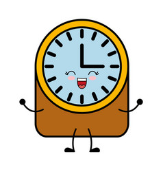 Vintage clock icon vector
