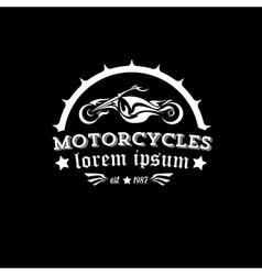 Vintage motorcycle label or badge vector