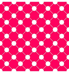 White Polka dot Chess Board Grid Hot Pink vector image vector image