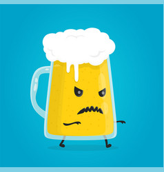 zombie glass of beer angry evil alcohol vector image vector image