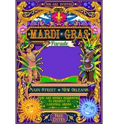 Mardi Gras Carnival Poster Carnival Mask Show vector image