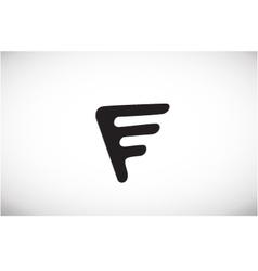 Alphabet letter f black logo icon design vector