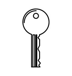 Key security isolated icon vector