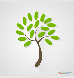 elegant tree silhouette nature concept vector image
