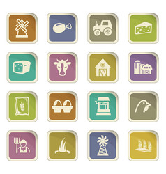 Agriculture and farming icons set vector