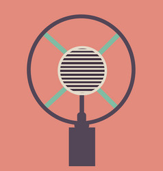 Old microphone made in grunge style vector