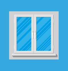 Plastic modern window vector