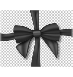 Black ribbon 3d realistic ribbon isolated on vector