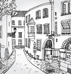 european street2 vector image