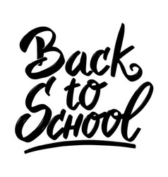 Back to school hand drawn lettering phrase vector