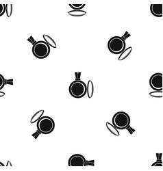 Medallion pattern seamless black vector