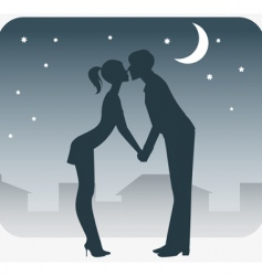 night rendezvous vector image