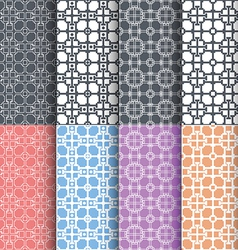 Geometric seamless patterns abstract background vector