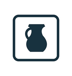 Pitcher icon rounded squares button vector